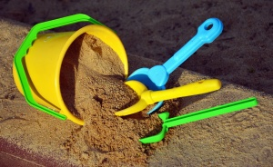 bucket, shovel, toy, plastic, sand