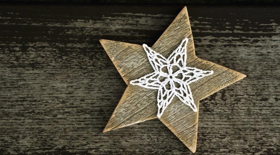 ukras, konac, zvijezda, drvo