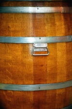 barrel, wood, metal, basement