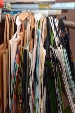 Sac, corde, bois, papier, magasin