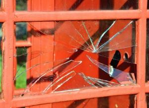 Finestra, vetro, telaio, legno, rotto