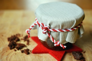 fabric, rope, jar, christmas, delicacy