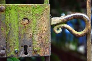 locks, antique, metal, door, door handle