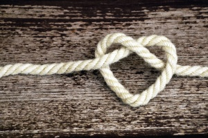 rope, wood, heart, love, art