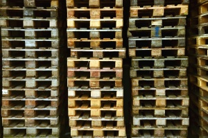 Palette, bois, marchandises, planche, entrepôt