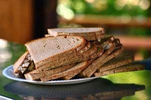 chléb, toast, jídlo, deska