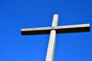 cross, wood, christianity, religion, sky
