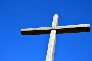 çapraz, ahşap, Hristiyanlık, din, gökyüzü