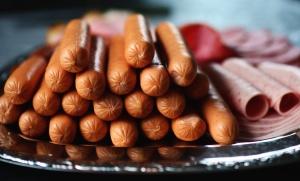 λουκάνικο, ζαμπόν, τροφίμων, κρέας, σαλάμι, πιατάκι