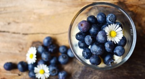 blueberry, glass, fruit, food, daisy