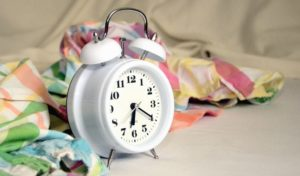 scarf, alarm clock, hour, minute, mechanism, time