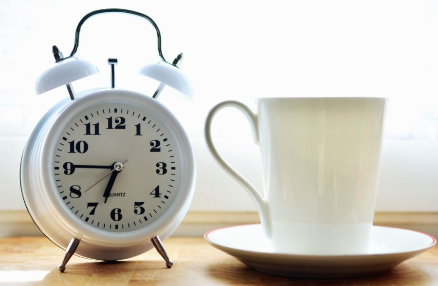 cup, coffee cup, alarm clock, clock, minute, mechanism