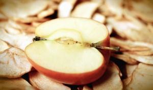 Nourriture, nutrition, fruits secs, pomme