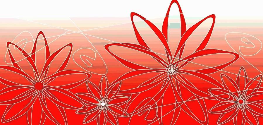 květina, design, umění