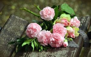 Blumenstrauß, blume, rose, romanze