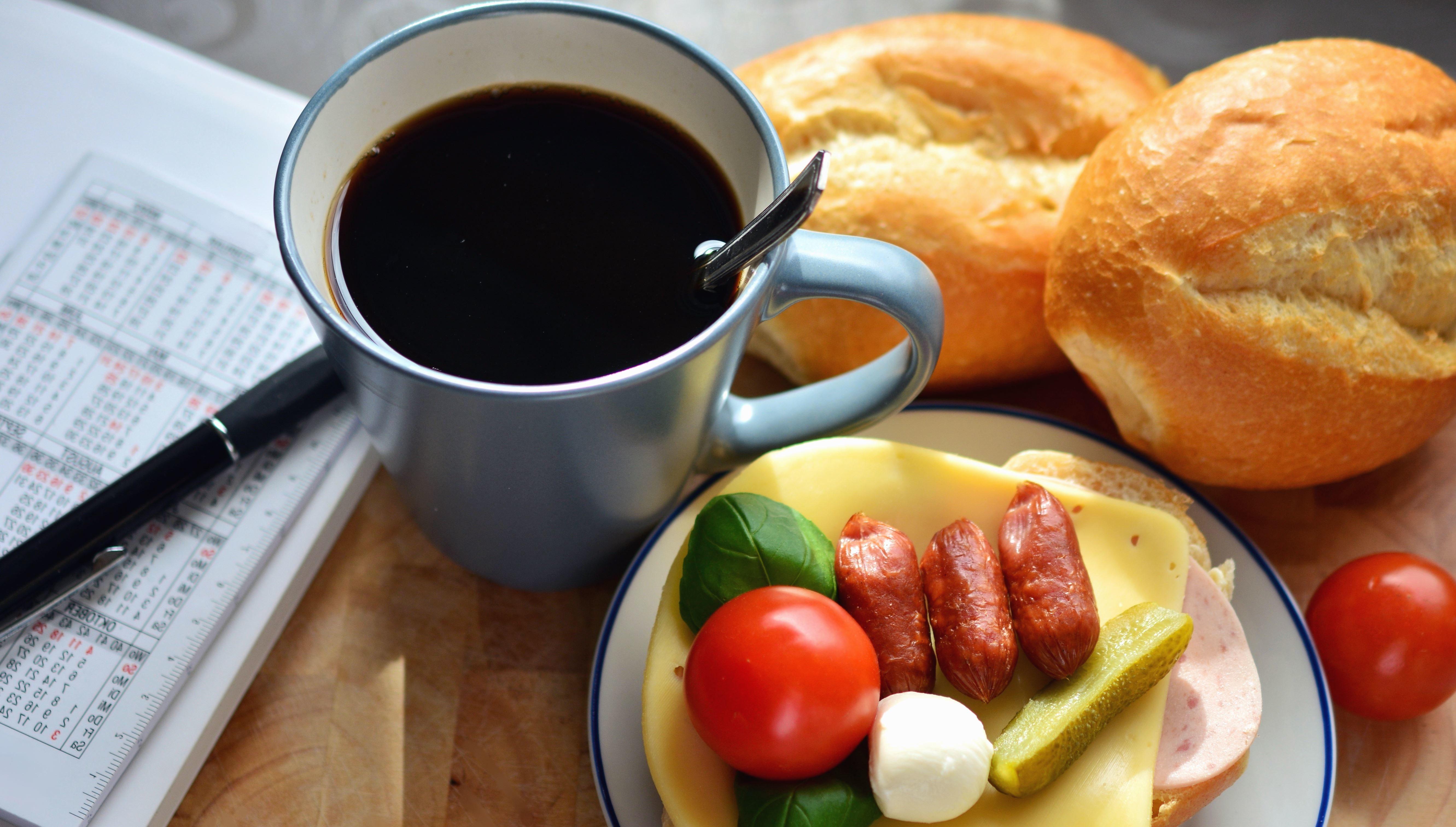 Открытки вкусный завтрак
