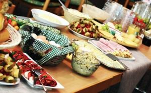 таблица, храна, салата, яйце, чаша, кошница