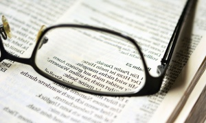 eyeglasses, glass, book, object, magnification