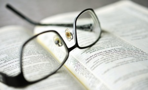 eyeglasses, book, magnification, paper