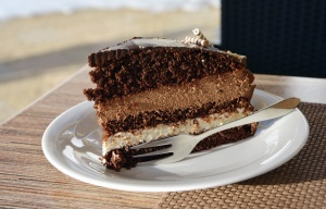 Comida, plato, pastel, dulce, postre, celebración