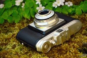 photo camera, lens, flower, retro, mechanism, petal