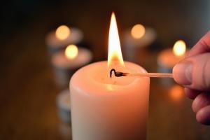 Allumettes, éclairage, bougies, cire, flamme