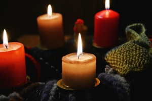 candle, flame, wax, warm, romantic, decoration
