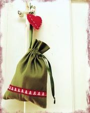 bag, christmas, heart, decoration, gift