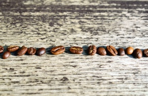 grain, coffee, wooden, table, seed