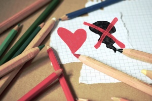 pencil, color, colorful, heart, paper, drawing