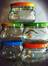 jar, color, colorful, glass, cover