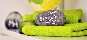 stone, towel, label, decoration