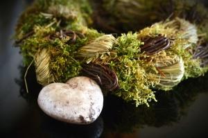 камък, сърцето, венец, завод, декорация