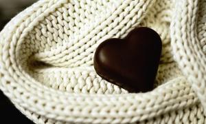 hjärta, choklad, dessert, Söt