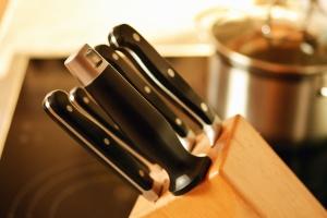 holder, knife, wood, kitchen, pot, object