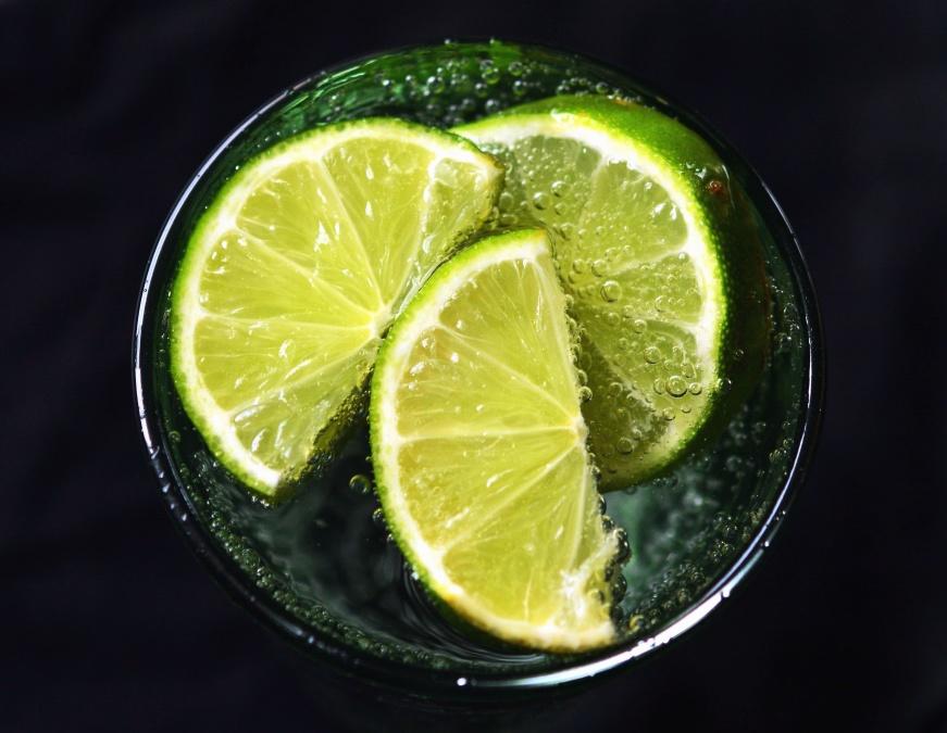 citrónové, vodu, ovoce, čas, nápoj, kyselé
