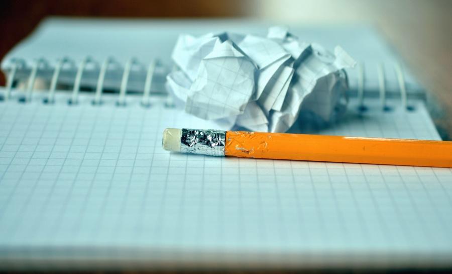 pencil, graphite, eraser, paper, note