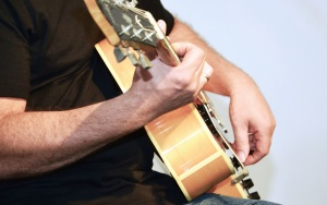 gitar, musikkinstrumenter, musikk, musiker, streng, lyd