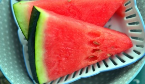 watermelon, vegetable, sweet, basket, plate, decoration