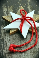 star, ornament, wooden, christmas, rope, decoration