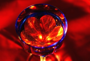 abstract, glass, light, red, color, art