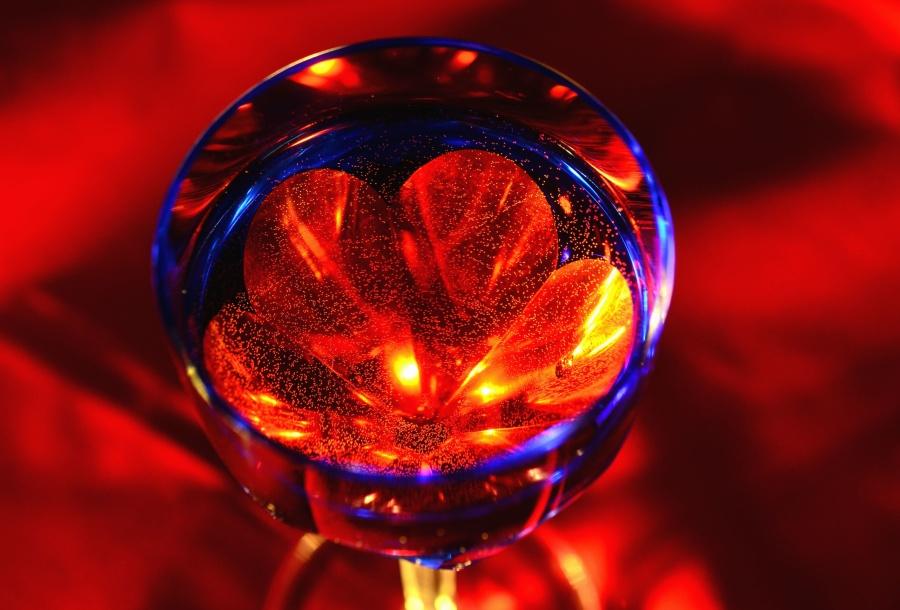 abstract, glas, licht, rood, kleur, kunst