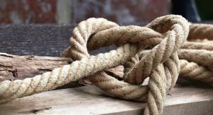 Madera, nudo, cuerda, atado