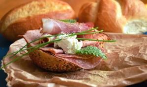 šunka, meso, zelena salata, sir, doručak, hranu