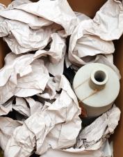 Papel, basura, cartón, plástico