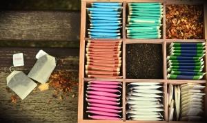 tea bag, box, plant, staple