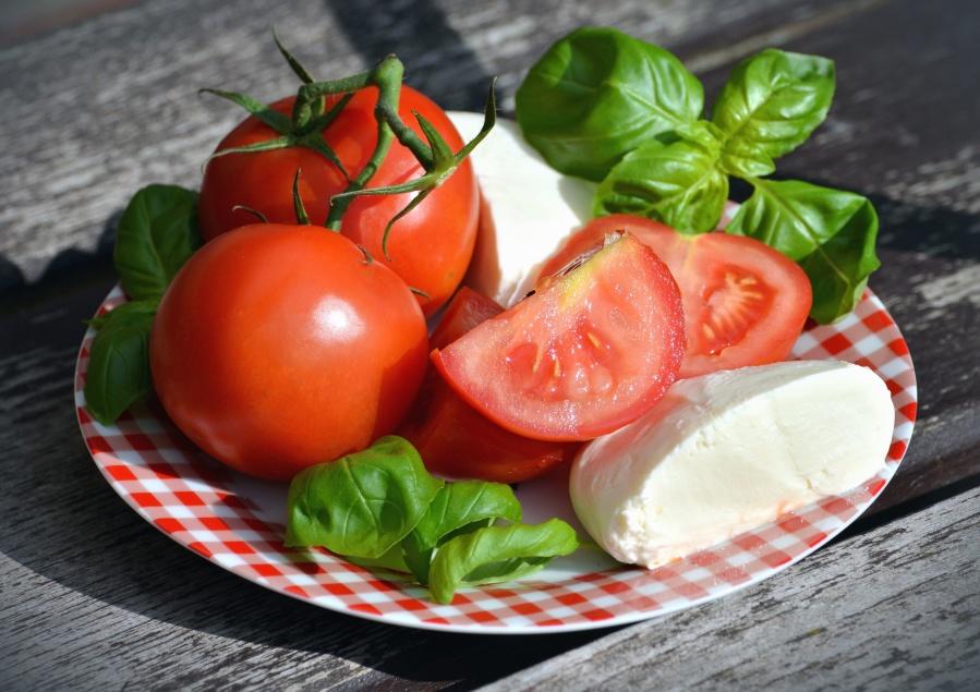 tomaat, kaas, voeding, dieet, Ontbijt