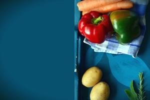 Patata, zanahoria, pimiento, vegetales, hoja, comida