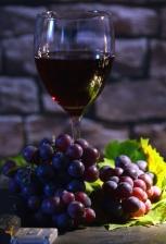 vidro, suco de frutas, uvas, fruta, folha