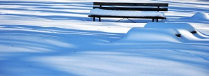 snow, winter, bench, landscape, cold